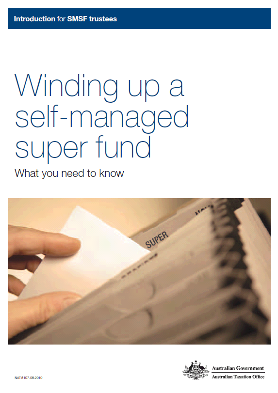 Winding Up A Self Managed Super Fund